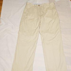 Faconnable mens tan pant size 34W straight leg